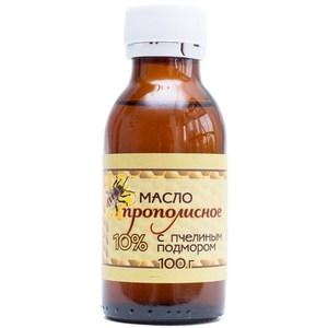 Прополисное масло 10% с пчелиным подмором, 100 мл.
